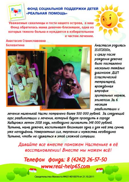 Анастасия Белевитина